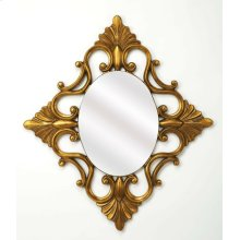Add an elegant touch to any space with this ornate wall mirror. Made with a Antique Gold finish polyurethane frame, this charming design showcases a timeless oval silhouette and elegant detailing. Establish a traditional French aesthetic in your living