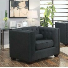 Cairns Transitional Charcoal Tufted Back Chair