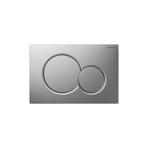 Sigma01 Dual-flush plates for Sigma series in-wall toilet systems Matte chrome Finish Product Image