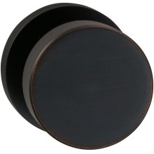 Interior Modern Knob Latchset with Modern Round Rose in (TB Tuscan Bronze, Lacquered)