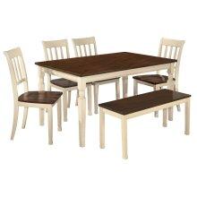 Whitesburg - Brown/Cottage White 6 Piece Dining Room Set