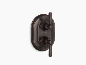 Oil-rubbed Bronze Stacked Valve Trim With Metal Lever Handles, Requires Valve Product Image