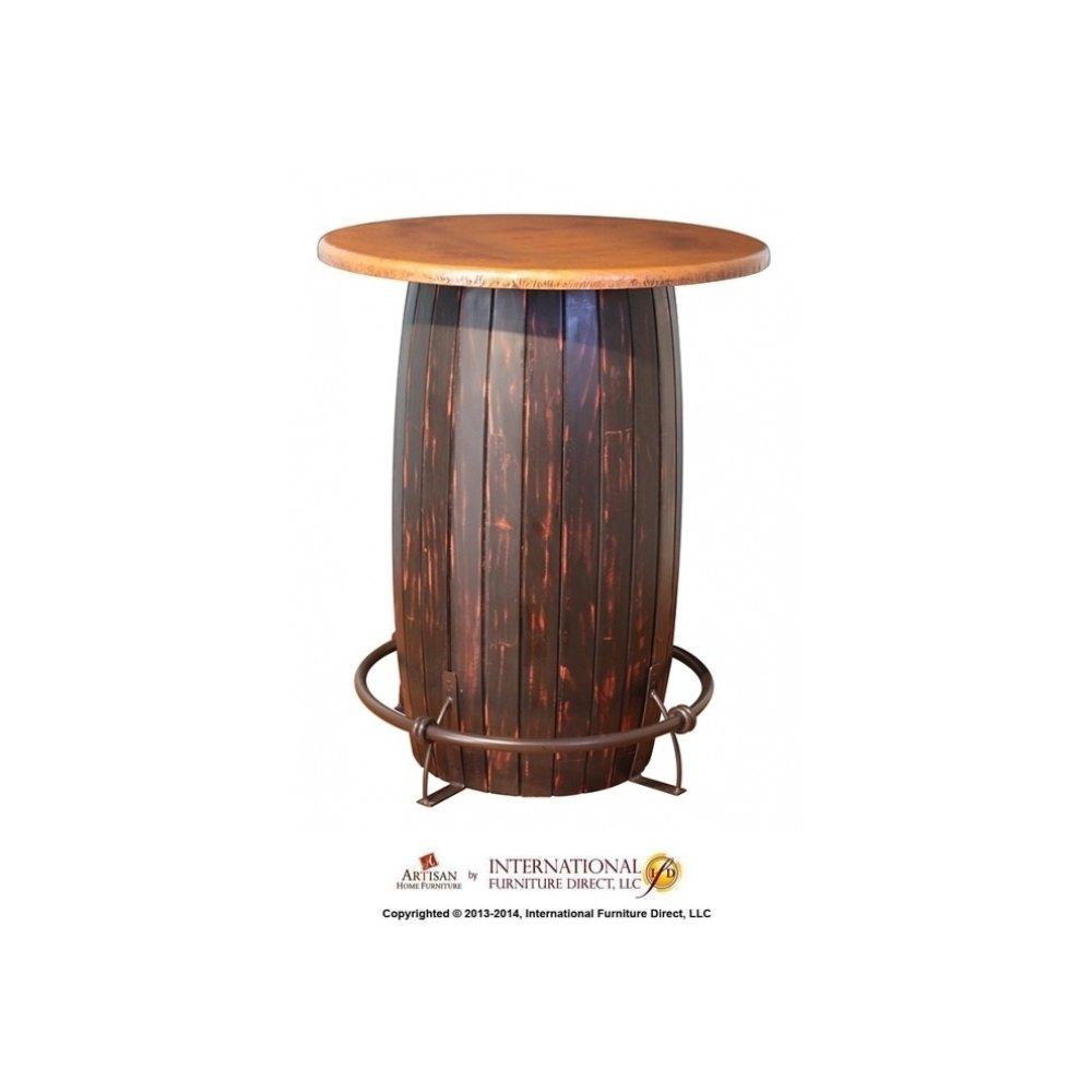 Bistro Table Base, Black & Red finish & Barrel design