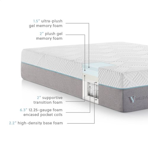 Wellsville 14 Inch Gel Hybrid Mattress Cal King