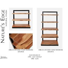 Nature's Edge 5 Shelf Bookcase-natural