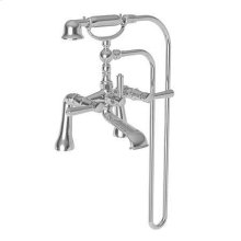 Weathered Brass Exposed Tub & Hand Shower Set - Deck Mount