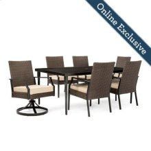 Addyson 7pc Cushioned Dining Set