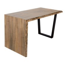 """Live Edge Natural Maple 54"""" Waterfall Desk"""