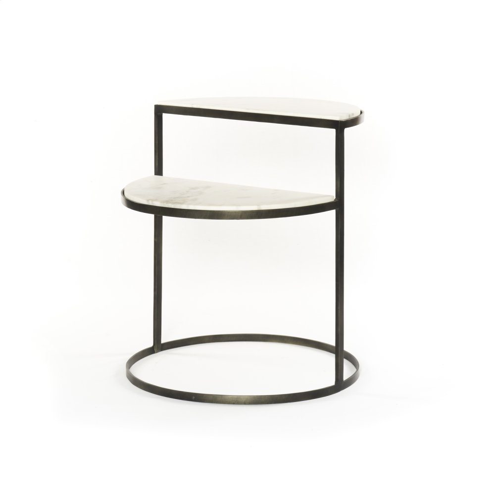 Hammered Grey Finish Bonnell Nightstand