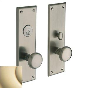 Lifetime Polished Brass Baltimore Entrance Trim Product Image