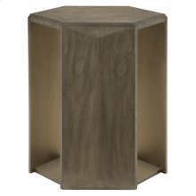 Profile Hexagon Chairside Table in Warm Taupe (378)