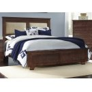 4/6 - 5/0 Full/Queen Upholstered Bed - Espresso Pine Finish Product Image