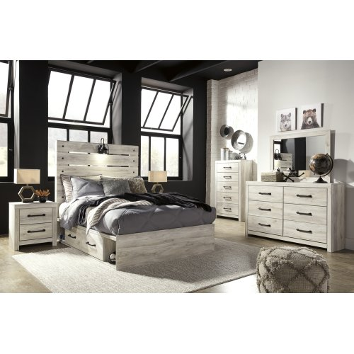 Cambeck - Whitewash 5 Piece Bed Set (Full)