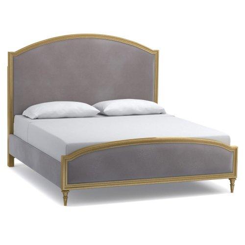 Bedroom Antoinette King Gilded Upholstered Bed