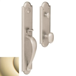 Lifetime Polished Brass Boulder Full Handleset Product Image
