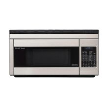 1.1 cu. ft. 850W Sharp Stainless Steel Over-the-Range Carousel Microwave Oven