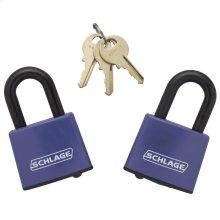 Padlock  Covered Laminated Steel Padlock 2-pack keyed alike - No Finish