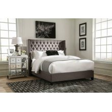 Benicia Grey Upholstered King Bed