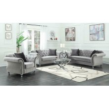 Frostine Traditional Silver Sofa