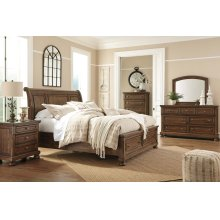 ASHLEY B719-31-36-78-76-99 Flynnter - Medium Brown 3-Piece Bedroom Group - King Bed, Dresser & Mirror