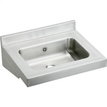 """Elkay Stainless Steel 22"""" x 19"""" x 5-1/2"""", Wall Hung Lavatory Sink"""