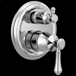 Chrome Traditional 2-Handle Monitor ® 14 Series Valve Trim with 3-Setting Integrated Diverter Product Image