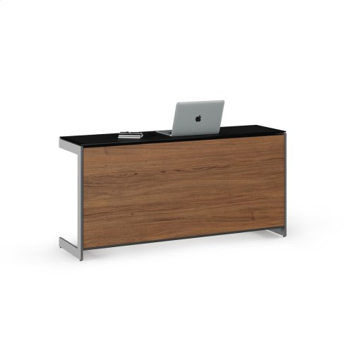 Desk Return Back Panel 6009 in Natural Walnut