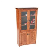 "Mission Oak 24"" 4-Door Bookcase"