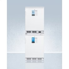 Ff7lpro Auto Defrost All-refrigerator With Digital Controls Stacked With -25 c Manual Defrost Vt65mlpro All-freezer, Both With Factory-installed Probe Holes