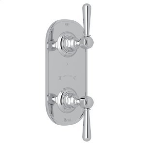 """Polished Chrome Verona 1/2"""" Thermostatic/Diverter Control Trim with Verona Series Only Metal Lever Product Image"""