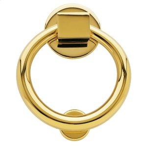 Lifetime Polished Brass Ring Knocker Product Image