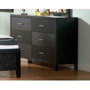 Grove Black Six-drawer Dresser Product Image