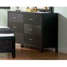 Grove Black Six-drawer Dresser