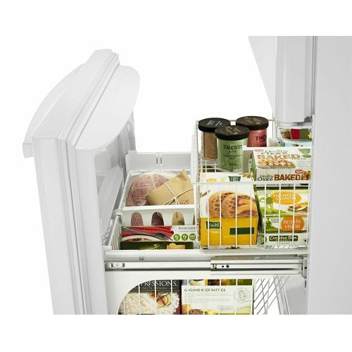 33-inch Wide Bottom-Freezer Refrigerator with EasyFreezer Pull-Out Drawer - 22 cu. ft. Capacity - White