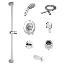 Commercial Shower System Kit with Hand Shower and Diverter for Flash Rough Valve - 1.5 GPM  American Standard - Polished Chrome