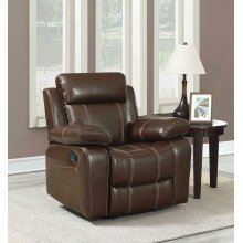 Myleene Chestnut Leather Recliner