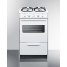 """20"""" Wide Slide-in Gas Range In White With Sealed Burners, Oven Window, Light, and Electronic Ignition; Replaces Wnm114rw/wtm1107swrt"""