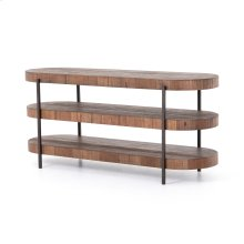Natural Brown Finish Tinsley Media Console