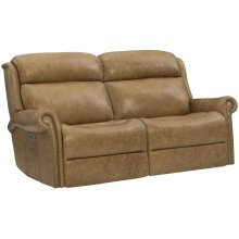 Evan Power Motion Loveseat in #44 Antique Nickel