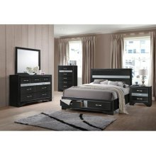 Naima Black Queen Bed (25900)