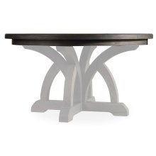 Dining Room Round Dining Table Top With 1-18in Leaf
