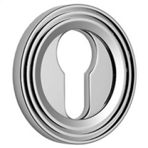 Satin Chrome Euro concealed fix escutcheon