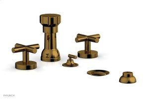 TRANSITION 1 Four Hole Bidet Set 120-60 - French Brass Product Image