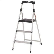 3 Step Aluminum Step Stool with Tray- 225 lbs