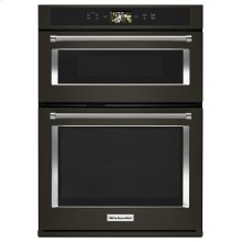 "Smart Oven+ 30"" Combination Oven with Powered Attachments and PrintShield Finish Black Stainless Steel with PrintShield™ Finish"