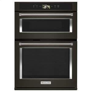 "Smart Oven+ 30"" Combination Oven with Powered Attachments and PrintShield Finish Black Stainless Steel with PrintShield™ Finish Product Image"