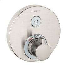 Brushed Nickel Thermostatic Trim for 1 Function, Round