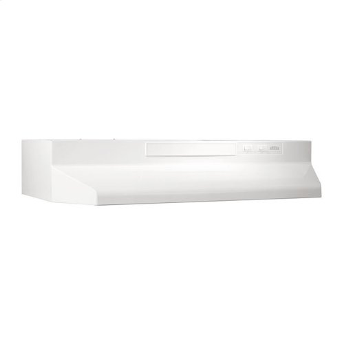 30-Inch Convertible Under Cabinet Range Hood with Light in White with EZ1 installation system