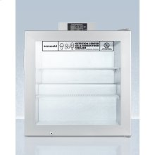 Commercially Approved Nutrition Center Series Compact Glass Door All-freezer With Front Lock and Nist Calibrated Digital Temperature Display