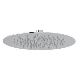 "Polished Chrome 9 1/2"" Slim Ultra Thin Round Rain Showerhead Product Image"